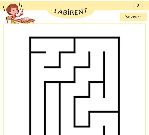Seviye 1 - Labirent Bulmaca Etkinliği 2