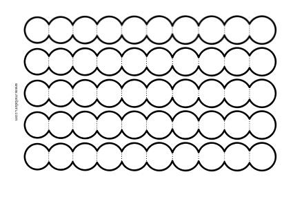 10'lu akordiyon dairelerle not yazma şablonu