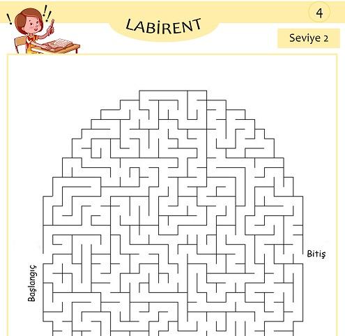 Seviye 2 - Labirent Bulmaca Etkinliği 4