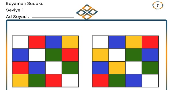 Boyamalı Sudoku 1
