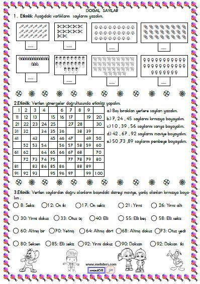 2. Sınıf Matematik Sayıları Yazma ve Okuma Etkinliği 5