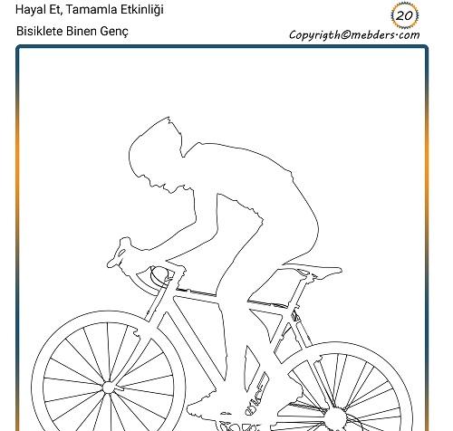 Hayal Et, Tamamla Etkinliği 20 - Bisiklete Binen Genç