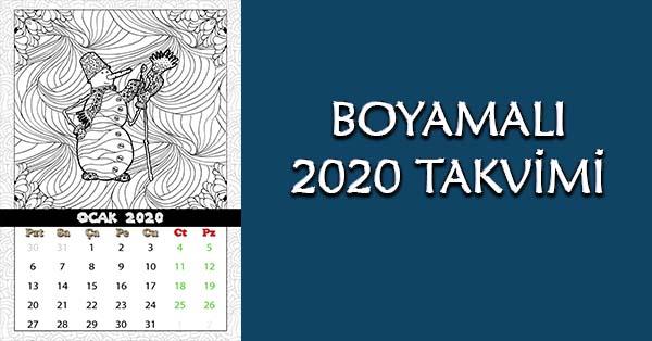 Boyamalı 2020 Takvimi