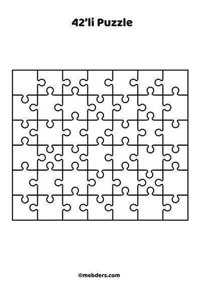 42'li puzzle şablon