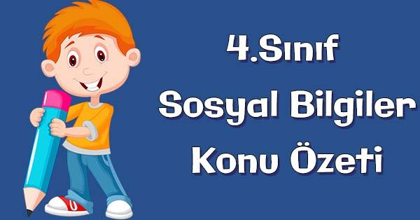 4.Sınıf Sosyal Bilgiler Türk Cumhuriyetleri Konu özeti