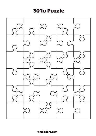30'lu puzzle şablon