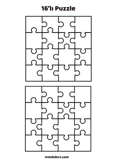 16'lı puzzle şablon