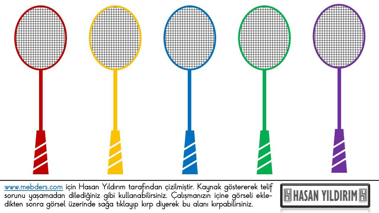 Badminton Raketi PNG