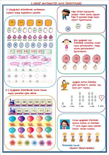 3. Sınıf Matematik Sayı Örüntüleri