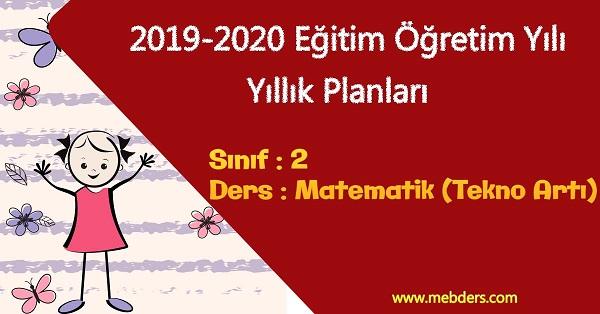 2019 - 2020 Yılı 2.Sınıf Matematik Yıllık Planı (Tekno Artı Yayınevi)