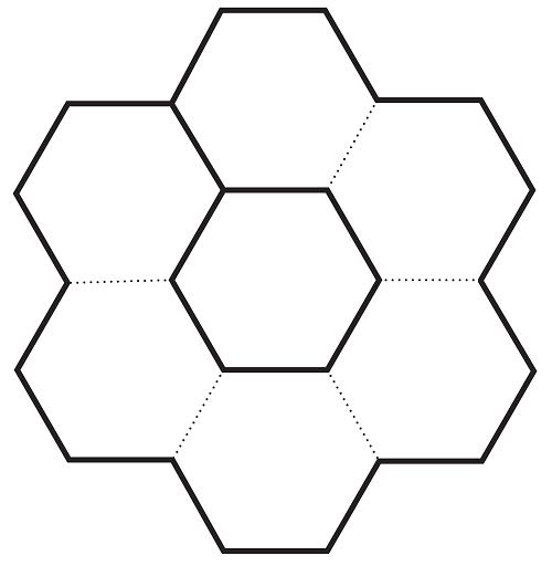 Birbirine bağlı petek şeklinde akordion not şablonu