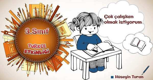 3.Sınıf Türkçe Sözcükte Çağrışım ve Sözcükte Anlam Etkinliği 2