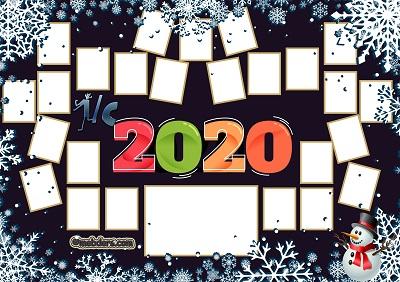 1C Sınıfı için 2020 Yeni Yıl Temalı Fotoğraflı Afiş (25 öğrencilik)
