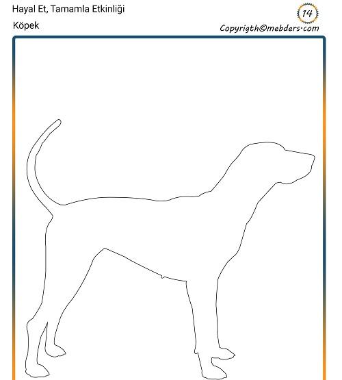 Hayal Et, Tamamla Etkinliği 14 - Oturan Köpek