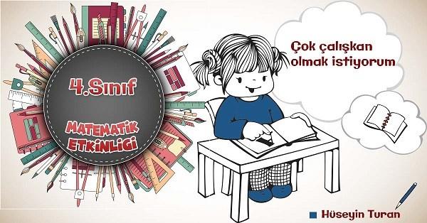 4.Sınıf Matematik Zihinden Çıkarma İşlemi Etkinliği 2