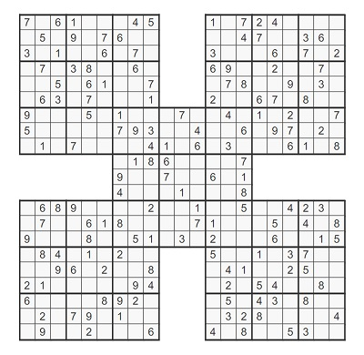 Beşli Samurai Sudoku 5