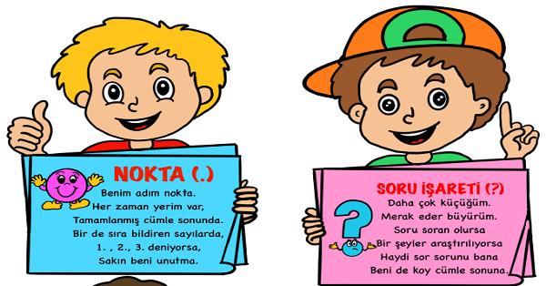 1.Sınıf Türkçe Noktalama İşaretleri Pano Etkinliği