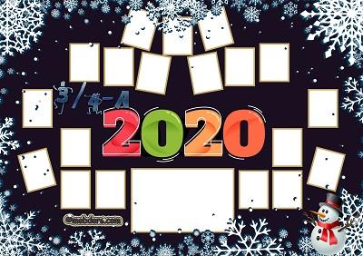 3 ve 4A Sınıfı için 2020 Yeni Yıl Temalı Fotoğraflı Afiş (19 öğrencilik)