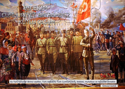 Cumhuriyet Panosu Puzzle Poster (20 Parça)