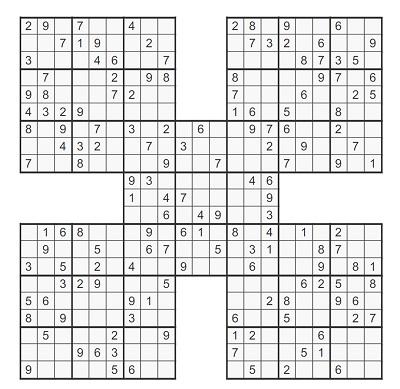 Beşli Samurai Sudoku 4
