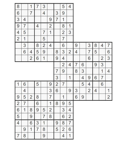 Üçlü Samurai Sudoku 3