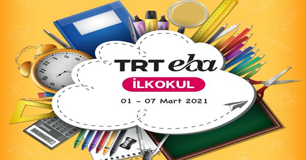 1 Mart - 7 Mart Arası EBA TV İlkokul Yayın Akışı, Dersler, Konular
