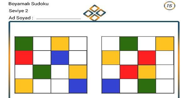 Boyamalı Sudoku 15