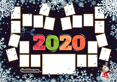 3C Sınıfı için 2020 Yeni Yıl Temalı Fotoğraflı Afiş (22 öğrencilik)