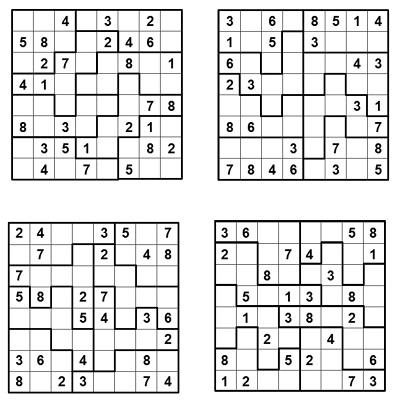 Parçalı Sudoku 3