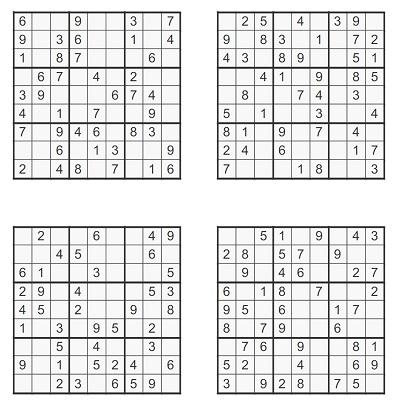 Orta Seviye Sudoku 4
