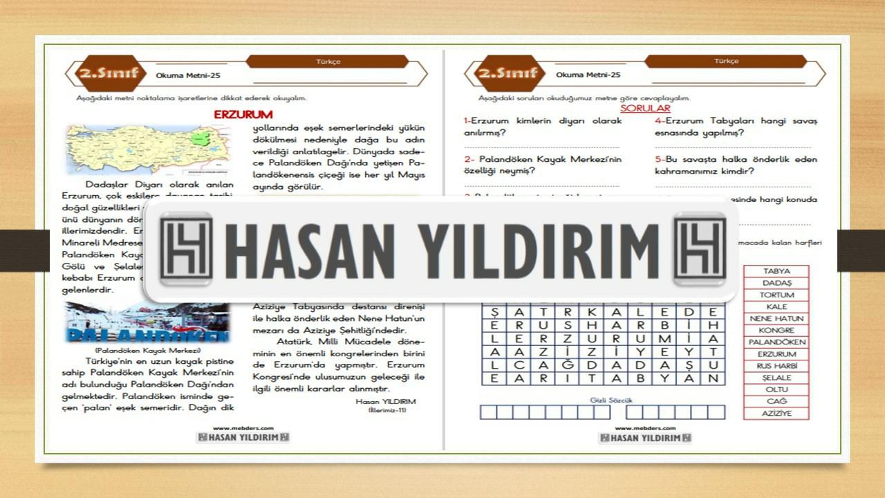 2.Sınıf Türkçe Okuma Metni-25 (Erzurum)