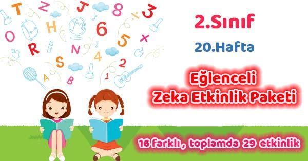 2020-2021 Yılı 2.Sınıf 20.Hafta Eğlenceli Zeka Etkinlik Paketi