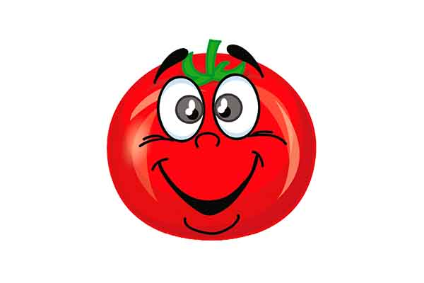 Clipart komik domates resmi