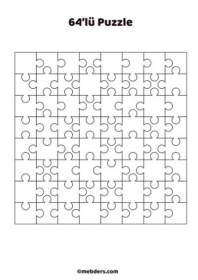 64'lü puzzle şablon 2
