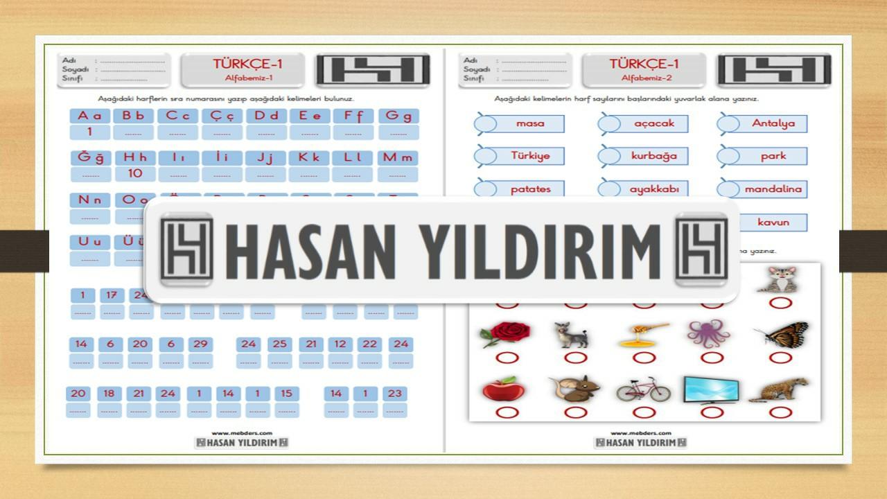 1.Sınıf Türkçe Alfabemiz Etkinlik Sayfası