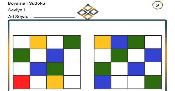 Boyamalı Sudoku 9