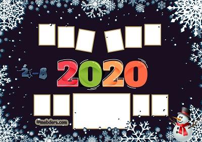 2B Sınıfı için 2020 Yeni Yıl Temalı Fotoğraflı Afiş (10 öğrencilik)