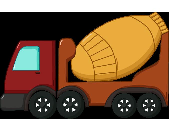 Beton iş kamyonu resmi png