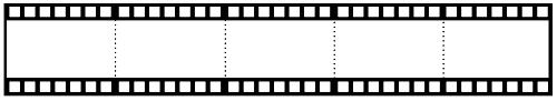 Beşli film şeritli şablon