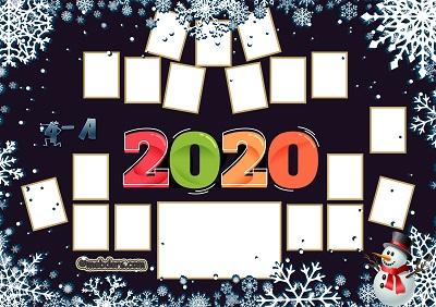 4A Sınıfı için 2020 Yeni Yıl Temalı Fotoğraflı Afiş (18 öğrencilik)