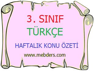 3. Sınıf Türkçe Harf Bilgisi ve Alfabetik Sıralama Konu Özeti