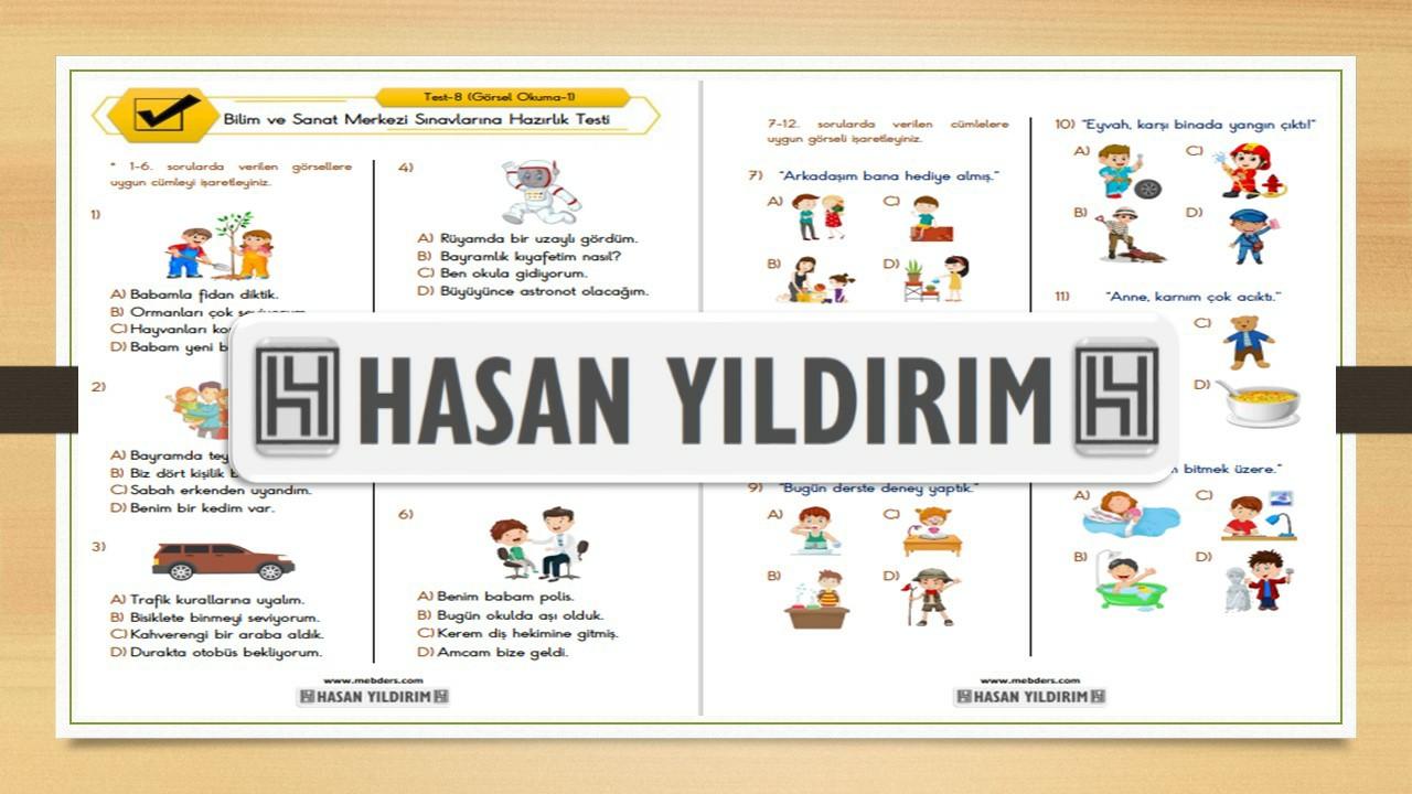 BİLSEM Sınavlarına Hazırlık Testi-8