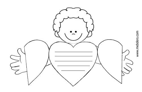 Anneler günü için kalpli sarılan erkek çocuk şablonu