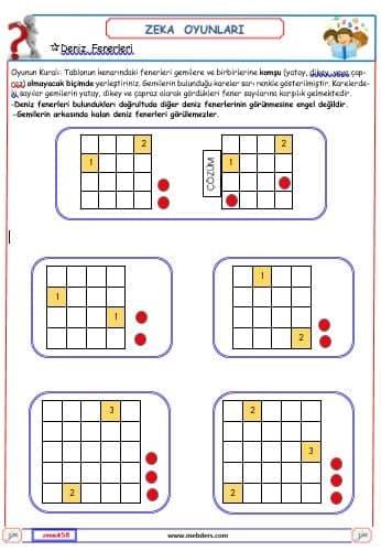 Fenerler 1 ( Zeka Oyunu )
