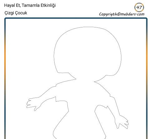 Hayal Et, Tamamla Etkinliği 47 - Çizgi Çocuk 10