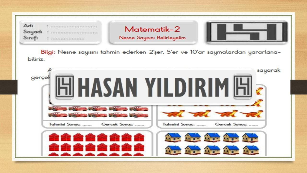 2.Sınıf Matematik Nesne Sayısını Tahmin Etme Çalışma Sayfası