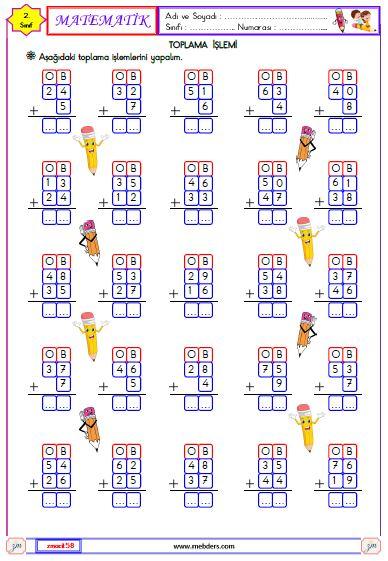 2. Sınıf Matematik Toplam İşlemi Etkinliği 3