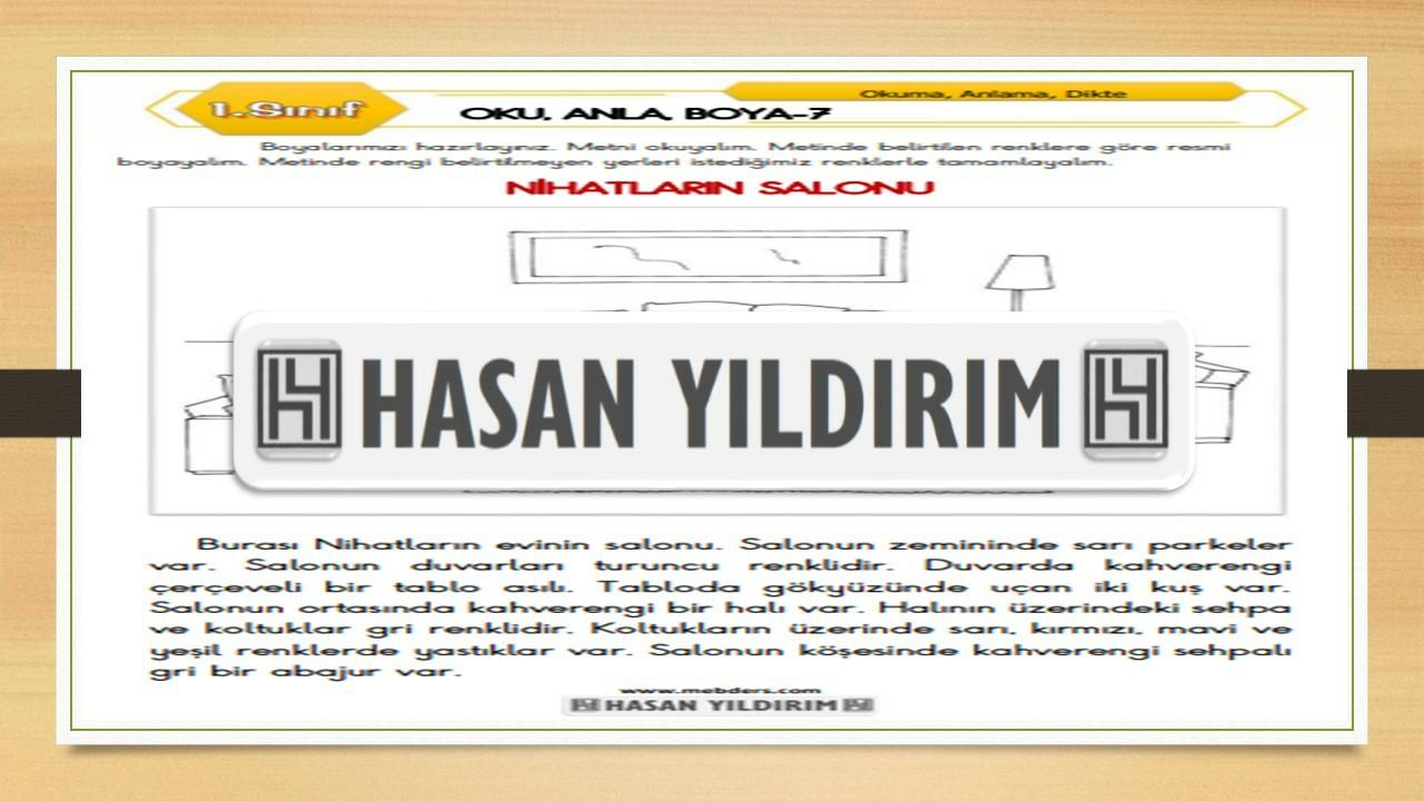 1.Sınıf Türkçe Oku, Anla, Boya-7