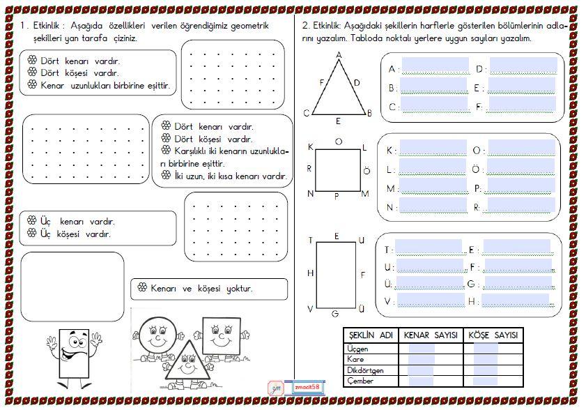2.Sınıf Matematik Geometirk Şekiller 3