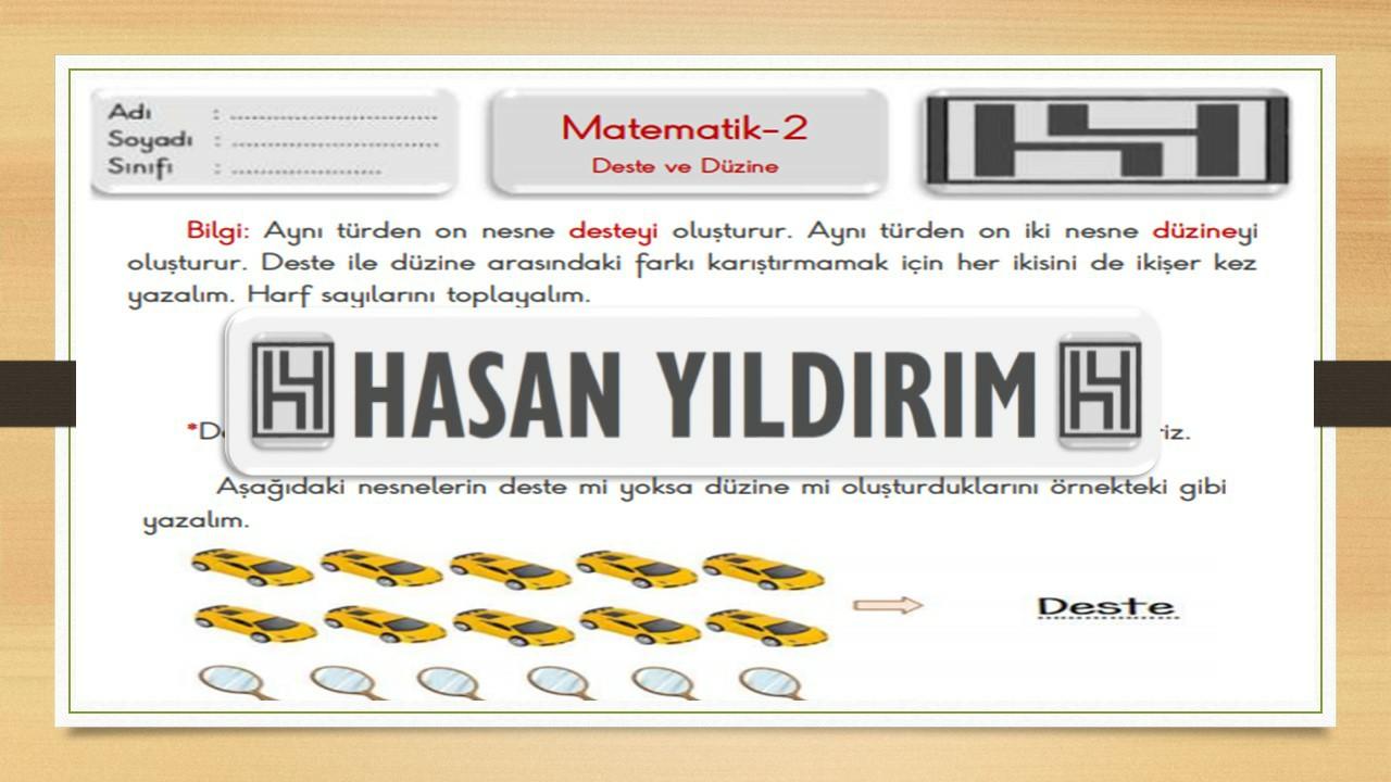 2.Sınıf Matematik Deste ve Düzine Çalışma Sayfası